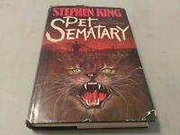 Pet Sematary  Book Club Edition BCE Stephen King Vintage Hardcover 1983 HCDJ