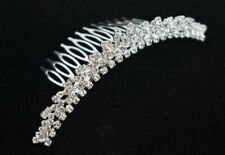 Hair Comb with Rhinestone Diamonds 2-Pack