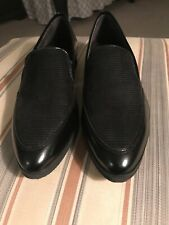 Walking Cradles Black Flats Loafer Style 8 Narrow Preowned