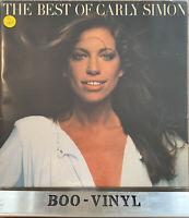 "The Best Of Carly Simon 12"" Vinyl LP. K52025 Elektra EX / VG+ A3/B4"