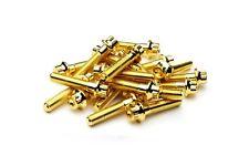 144x Gold Split Rim Assembly Bolts M7 x 32mm BBS RS OZ Wheels High Tensile Screw