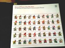 BIRDS AND FLOWERS OF THE 50 STATES COMMEMORATIVE COLLECTION INCLUDING 50 STAMPS
