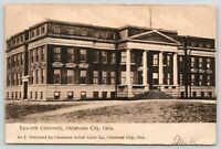 Oklahoma City Oklahoma~Epworth University~Huge Columns @ Entrance~1909