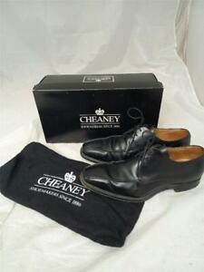Mens Black Cheaney Curtis Shoes Size 10 F In Box