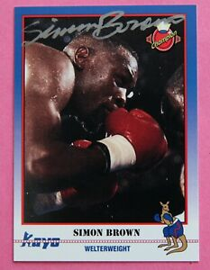 Boxing: Simon Brown Autographed Trade Card