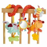 Kid Activity Spiral Wrap Around Crib Bed Bassinet Stroller Rail Toy
