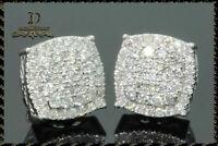 1 Pair Women Lady 925 Silver White Sapphire Ear Stud Hook Dangle Bride Earrings