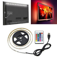 0.5/1/2/3/4/5M USB LED Strip Light RGB 2835 TV Back Lamp Colour Changing +Remote