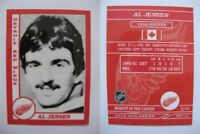 2015 SCA Al Jensen rare Detroit Red Wings goalie never issued produced #d/10