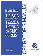 New Holland TZ18DA TZ22DA TZ25DA Tractor 54/60CMS Deck Operators Manual (B449)