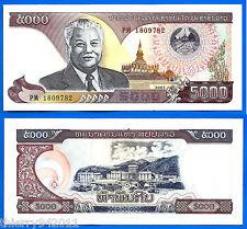 Lao 5000 Kip 2003 UNC Prefix PM Laos Asia Banknote Kips Free Shipping Worldwide