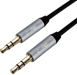 3.5mm Jack to Jack Aux Cable STEREO Audio Auxiliary Lead PC Car GOLD 3 Mtr Long