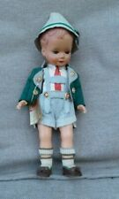 Vintage Bavarian doll. Boy. 1960's.in traditional costume,