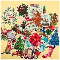 33pcs/set Christmas Sticker Santa Claus Snowman Tree DIY Scrapbooking Xmas Craft