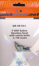Quickboost F-86F Sabre Ejection seat with safety belts Pilotensitz & Gurte 1:48