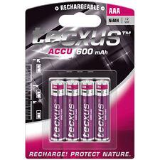 4x Tecxus Akku AAA Micro 600 mAh NiMH 4er Blister wiederaufladbare Batterie Accu