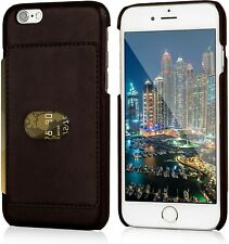 """Faux Leather Card Holder Wallet Back Case Cover For iPhone 6/6s Brown New 4.7"""""""