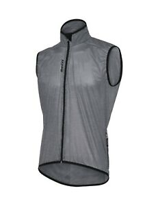 Santini W9 Scudo Cycling Packable Wind Vest in Grey - Made in Italy Men's Size S