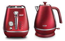 Delonghi KBI2001R CTI2003R Distinta Kettle & Toaster Pack - Red - RRP $317.98