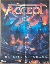 ACEEPT Rise Of Chaos POSTER !!!! Iron Maiden/Helloween/UDO/W.A.S.P./Judas Priest