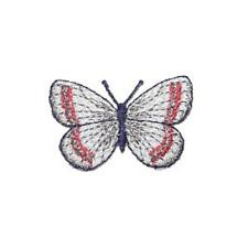Red,Blue,Silver Multi Butterfly Iron On Appliques x 10