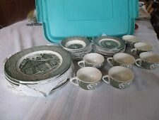 VINTAGE THE OLD CURIOSITY SHOP ROYAL CHINA SET 27 PIECES,DISHES,BOWLS,CUPS