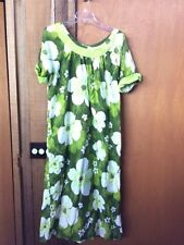 Vintage PARADISE HAWAII 1X 2X Dress Lounger Caftan (52 in bust)