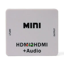 NEW Mini HDMI2HDMI + Audio HDMI to HDMI HD Converter Box Adapter Extractor 1080P