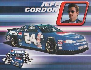 2000 Jeff Gordon Pepsi Chevy Monte Carlo NASCAR Busch postcard