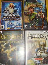 Cuatro Juegos de PC-buen estado-HEROES V-ROBIN HOOD-KING,S QUEST-KINGS BOUNTY