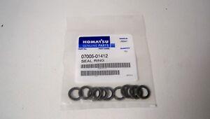 *NEW* Komatsu 07005-01412 Seal Ring (Qty 10)