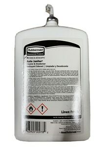 RUBBERMAID COMMERCIAL Auto Janitor Cleaner & Deodorizer Refill, Linen Fresh