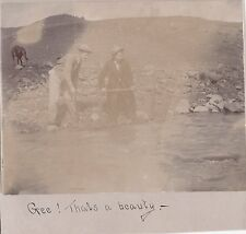 VINTAGE 1900 KLAMATH FALLS OREGON ASHLAND GRANTS PASS FISHING HUNTING DOG PHOTO