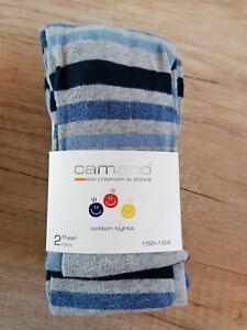 Camano Cotton Tights Strumpfhose Kinder Blau Gestreift Gr. 152-164 *NEU*
