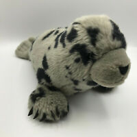 """The Wild Republic Spotted Gray Harbor Baby Seal Pup Plush 14"""" Stuffed Animal Toy"""