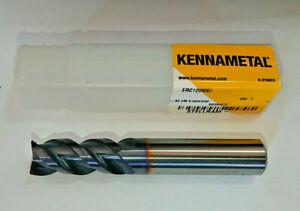 KENNAMETAL 12mm 3 FLUTE END MILL SOLID CARBIDE  ERC120NN3 SP4035