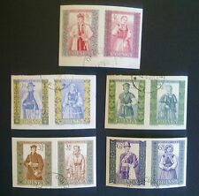POLAND STAMPS Fi1012-21A Sc888-97 Mi1156-65B - Polish folk costumes, 1960, used