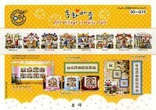 """""""The Village in Fairy Tale"""" Counted cross stitch pattern Leaflet. SODA SO-G15"""