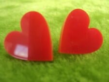 Heart shape stud earrings pendant laser cut from quality accrylic red white gold