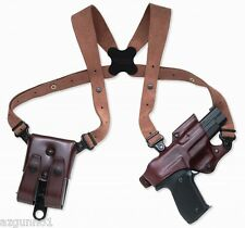 Galco Jackass Rig Shoulder Holster, Left H. Havana, Glock 9mm, .40, JR225H
