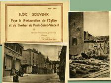 54  PONT SAINT VINCENT  bloc souvenir ce 11 cartes postales  ( année 50)