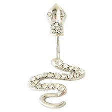 STEEL COBRA SNAKE NAVEL BELLY RING UNIQUE BUTTON PIERCING JEWELRY