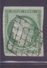 "FRANCE N°2 "" CERES 15c VERT "" OBLITERE A VOIR"