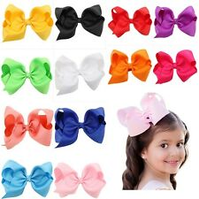 Cool 12CM Bow Hair Clip Grosgrain Large Ribbon Alligator Flower Baby/Girls Hot