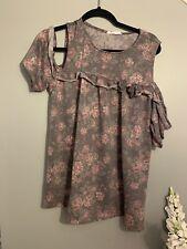 Amelia James Shirt Womens Extra Large Cold Shoulder xl Floral