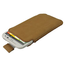 Brown Genuine Leather Pouch for HTC Sensation XL Android Smartphone Case Cover