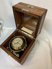 Hamilton/1942/Usnavy/Ship Chronometer/Mod.22/gimbal ed In Box/excellent