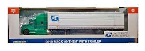Green Machine 30090 2019 Mack Anthem 18 Wheeler USPS 1:64 Chase Greenlight Chase