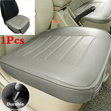 Grey PU Leather Car Seat Protector Cushion 1Pcs Front Seat Cover Universal+Pouch