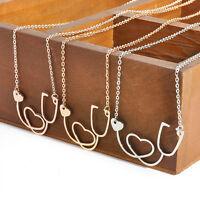 Women Fashion Medical Stethoscope Heart Collar Choker Chain Necklace Pendant New